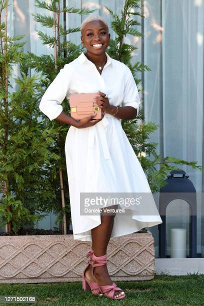 Tia Taylor is seen arriving at the 77th Venice Film Festival on September 09, 2020 in Venice, Italy.
