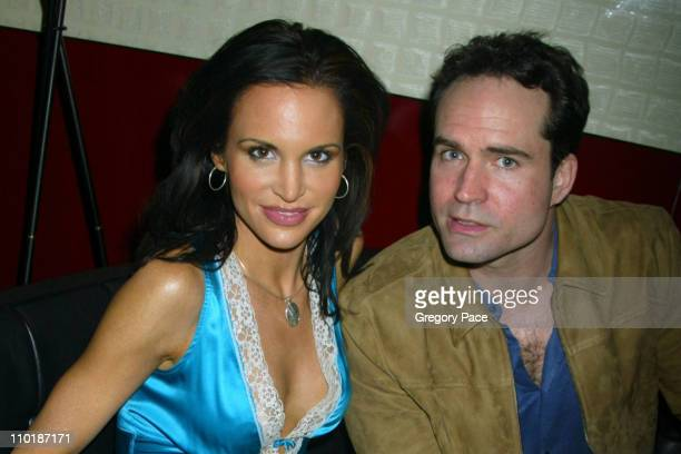Tia Texada and Jason Patric during John Varvatos Fragrance Launch Inside Party and Arrivals at The Canal Room in New York City New York United States