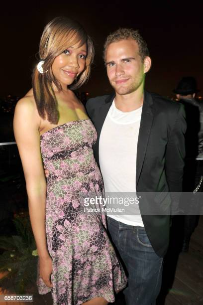 Tia Walker and Zev Eisenberg attend RICHIE RICH Hosts CHRIS COFFEE's Birthday Party at the GARDEN IN THE SKY at Cooper Square Hotel Penthouse on June...