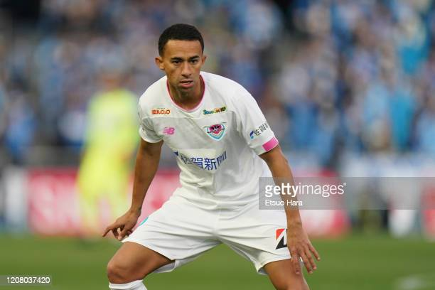 Tiago Alves of Sagan Tosu in action during the JLeague MEIJI YASUDA J1 match between Kawasaki Frontale and Sagan Tosu at Todoroki Stadium on February...