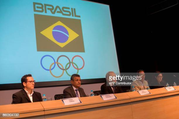 Tiago Camilo judo athlete and representative of the athletes in the Brazilian Olympic Committee Agberto Guimaraes COB executivedirector for sports...
