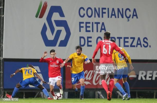 Tiago Dantas of SL Benfica B with Goncalo Santos of GD Estoril Praia in action during the Ledman Liga Pro match between SL Benfica B and GD Estoril...