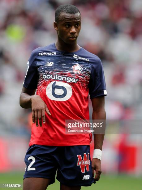 Tiago Djalo of Lille during the French League 1 match between Lille v Nantes at the Stade Pierre Mauroy on August 11, 2019 in Lille France