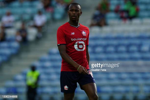 Tiago Djalo of LOSC Lille during the Pre-Season Friendly match between SL Benfica and Lille at Estadio Algarve on July 22, 2021 in Loule, Portugal.