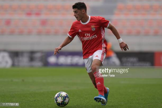 Tiago Gouveia of SL Benfica in action during the UEFA Youth League Group G match between SL Benfica and Olympique Lyon at Caixa Futebol Campus on...
