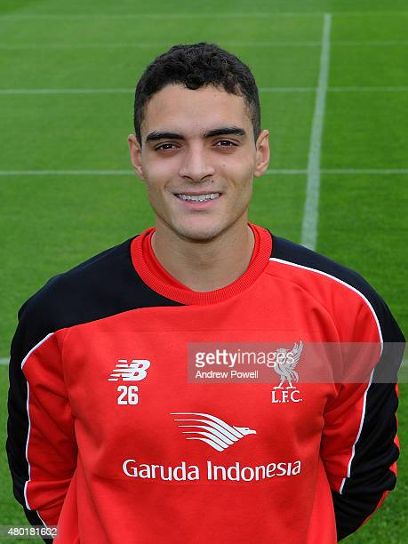 Tiago Ilori of Liverpool during a portrait shoot at Melwood Training Ground on July 10 2015 in Liverpool England