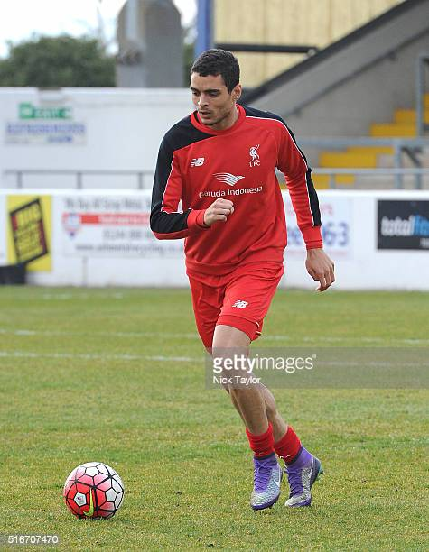 Tiago Ilori of Liverpool warmsup before the Liverpool v Southampton Barclays U21 Premier League game at the Lookers Vauxhall Stadium on March 20 2016...