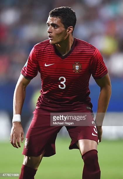 Tiago Ilori of Portugal in action during the UEFA Under21 European Championship 2015 Group B match between England and Portugal at Mestsky Fotbalovy...