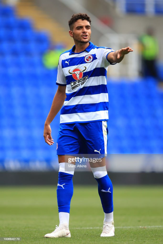 Tiago Ilori of Reading during the Pre-Season Friendly between Reading and Crystal Palace at Madejski Stadium on July 28, 2018 in Reading, England.