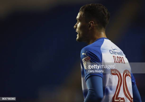 Tiago Ilori of Reading looks on during the Emirates FA Cup Third Round Replay match between Reading and Stevenage at Madejski Stadium on January 16...