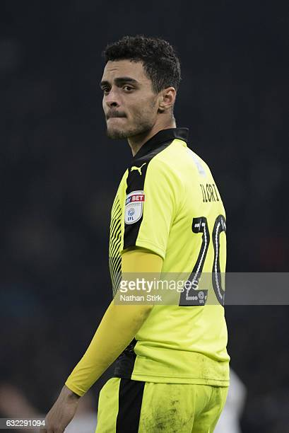 Tiago Ilori of Reading looks on during the Sky Bet Championship match between Derby County and Reading at the iPro Stadium on January 21 2017 in...