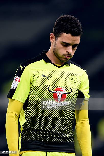 Tiago Ilori of Reading walks off dejected after the Sky Bet Championship match between Derby County and Reading at the iPro Stadium on January 21...