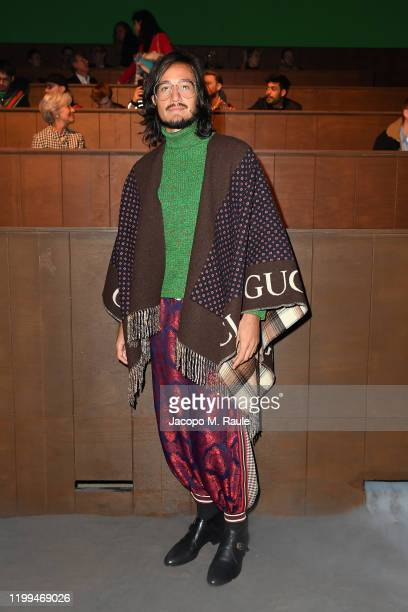 Tiago Iorc is seen on Gucci Front Row during Milan Menswear Fashion Week Fall/Winter 2020/21 on January 14 2020 in Milan Italy