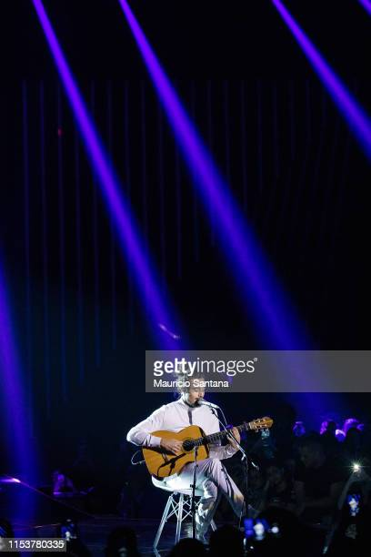 Tiago Iorc performs live on stage during MTV MIAW 2019 at Credicard Hall on July 3 2019 in Sao Paulo Brazil