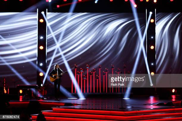 Tiago Iorc performs onstage at the Premiere Ceremony during the 18th Annual Latin Grammy Awards at the Mandalay Bay Convention Center on November 16...