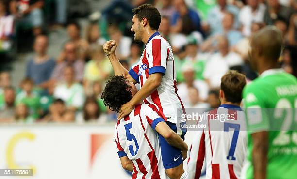 Tiago, Koke, Jubel, Freude, Emotion , Atletico Madrid, Testspiel Freundschaftsspiel, Spanien Primera DivisionL, Sport, Fußball Fussball, Volkswagen...