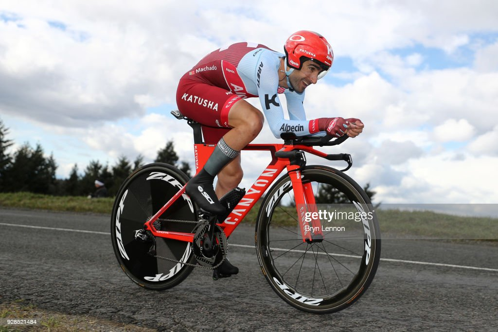 Tiago Machado of Portugal and Katusha-Alpecin during the 76th Paris - Nice 2018 / Stage 4 an Individual Time Trial of 18,4km from La Fouillouse to Saint-Etienne on March 7, 2018 in Saint-Etienne, France.