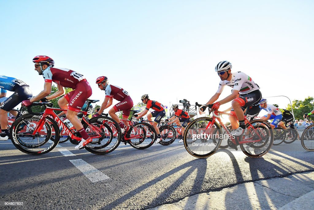 Tiago Machado of Portugal and Team Katusha Alpecin competes during the People's Choice Classic which is part of the 2018 Tour Down Under on January 14, 2018 in Adelaide, Australia.