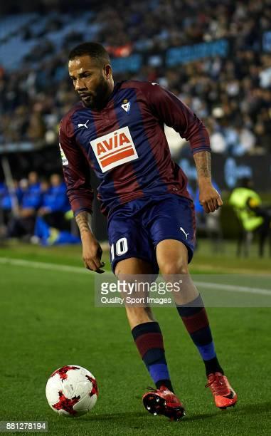 Tiago Manuel Dias 'Bebe' of SD Eibar in action during the Copa del Rey second leg match between Celta de Vigo and SD Eibar at Estadio Balaidos on...