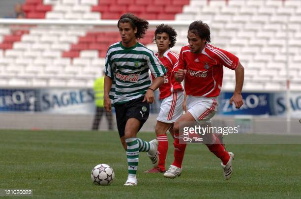 Tiago Pinto and Joao Ferreira during the Portuguese Under18 Championship match between SL Benfica and Sporting Lisbon on June 7 2007