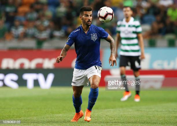 Tiago Silva of CD Feirense in action during the Liga NOS match between Sporting CP and CD Feirense at Estadio Jose Alvalade on September 1 2018 in...
