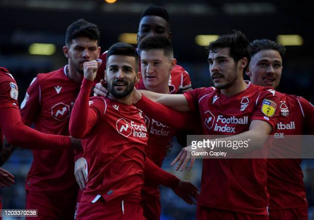 Tiago Silva of Nottingham Forest celebrates scoring the opening goal during the Sky Bet Championship match between Birmingham City and Nottingham...
