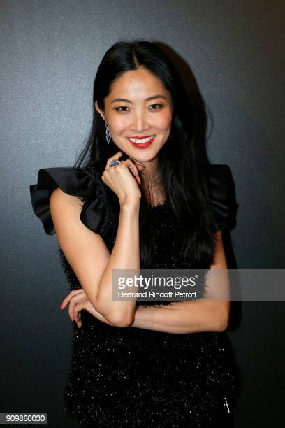 Tian Hai Rong attends the new Pomellato campaign launch with Chiara Ferragni as part of Paris Fashion Week during HauteCouture Spring/Summer 2018 at...
