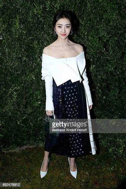 Tian Jing attends the Christian Dior Haute Couture Spring Summer 2017 show as part of Paris Fashion Week on January 23 2017 in Paris France