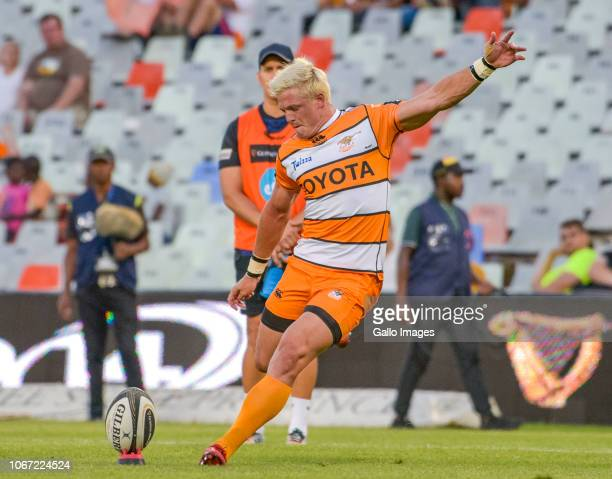 Tian Schoeman of Toyota Cheetahs during the Guinness Pro14 match between Toyota Cheetahs and Connacht at Toyota Stadium on December 01 2018 in...