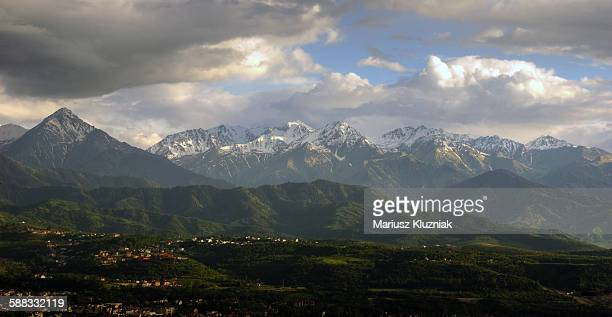 Tian Shan mountains view from Almaty