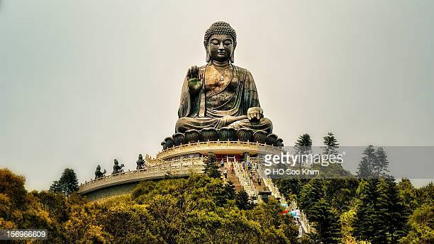 tian tan buddha at ngong ping, lantau island - lantau stock pictures, royalty-free photos & images