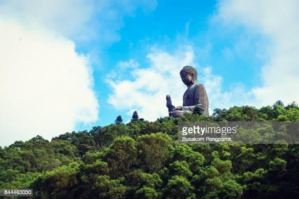 tian tan buddha at po lin monastery in hong kong. - lantau stock pictures, royalty-free photos & images