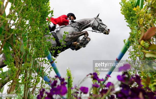 Tiana Coudray of The USA riding Ringwood Magister during the Show Jumping on day five of the Badminton Horse Trials on May 11 2014 in Badminton...
