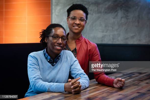 Tiana Hawkins left of Clinton MD and Annissia Hawkins of Temple Hills MD have accused National Christian Academy of discriminating against them...