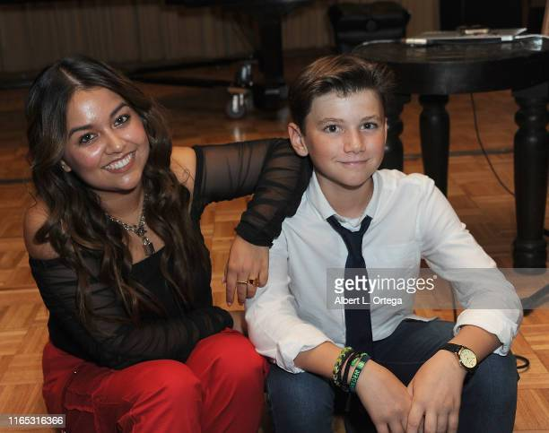 Tiana Kocher and Alexander James Rodriguez attend the Special Listening Session By Tiana Kocher held at Westlake Recording Studios on August 31 2019...