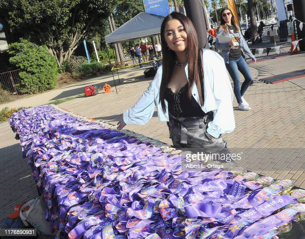 Tiana Kocher attends the 19th Annual Strides For Disability 5K Run held at Shoreline Aquatic Park on October 19 2019 in Long Beach California
