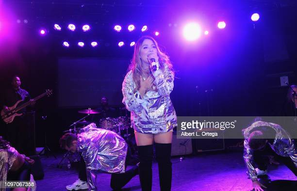 Tiana Kocher attends the 5th Annual The Soiree During GRAMMY Weekend held at The Roxy Theatre on February 9 2019 in West Hollywood California
