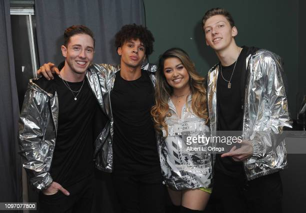 Tiana Kocher backstage with dancers at the 5th Annual The Soiree During GRAMMY Weekend held at The Roxy Theatre on February 9 2019 in West Hollywood...