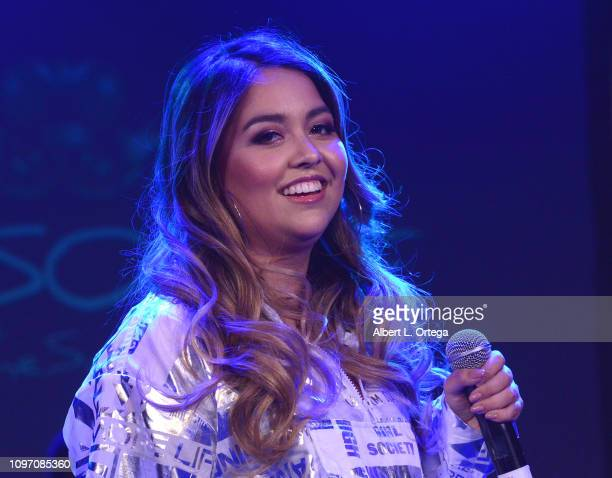 Tiana Kocher performs at the 5th Annual The Soiree During GRAMMY Weekend held at The Roxy Theatre on February 9 2019 in West Hollywood California