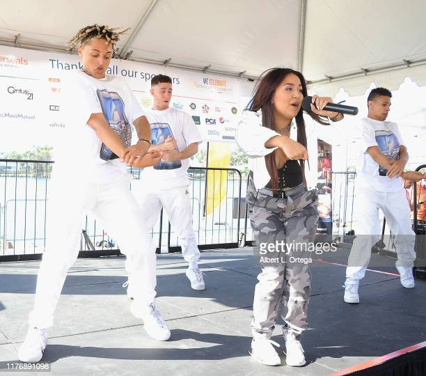 Tiana Kocher performs on stage at the 19th Annual Strides For Disability 5K Run held at Shoreline Aquatic Park on October 19 2019 in Long Beach...