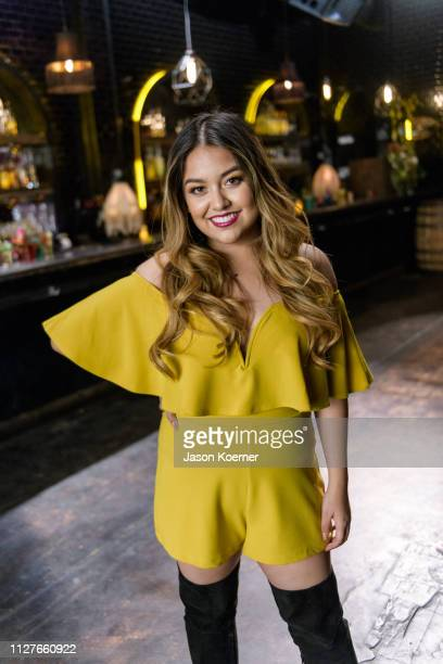 Tiana Kocher poses for a portrait during Por Tiempo Featuring J Alvarez Music Video Shoot on February 26 2019 in Miami Florida