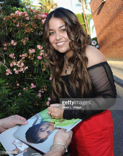 Tiana Kocher signs autographs prior to the Special Listening Session By Tiana Kocher held at Westlake Recording Studios on August 31 2019 in West...