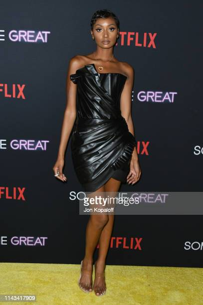 Tiana Parker attends the Los Angeles Special Screening Of Netflix's Someone Great at ArcLight Hollywood on April 17 2019 in Hollywood California