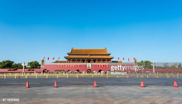 tiananmen square, gate of heavenly peace,beijing,china. - beijing stock pictures, royalty-free photos & images