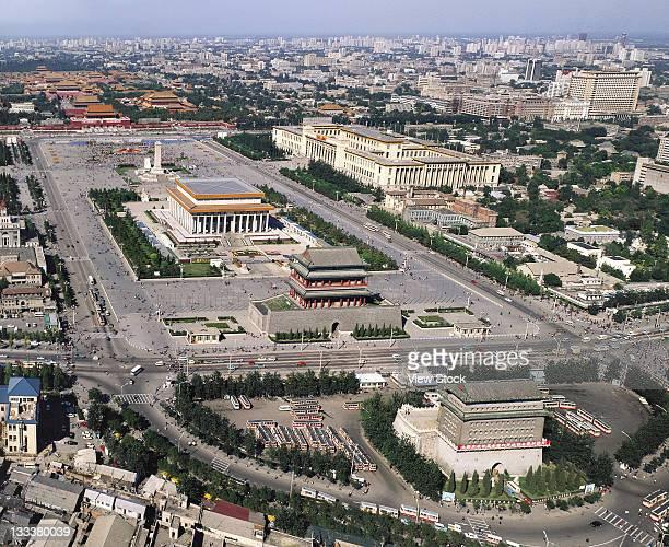 tiananmen square,beijing,china - gran salón del pueblo fotografías e imágenes de stock