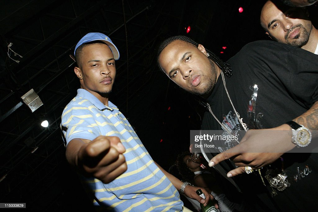 T.I.and Slim Thug during 'Welcome to Miami' Party Hosted by Sean 'Diddy' Combs at Suite Nightclub in Miami Beach, FL, United States.