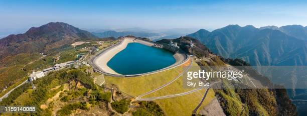 tianhuangping power station water reservoir - dam china stock pictures, royalty-free photos & images