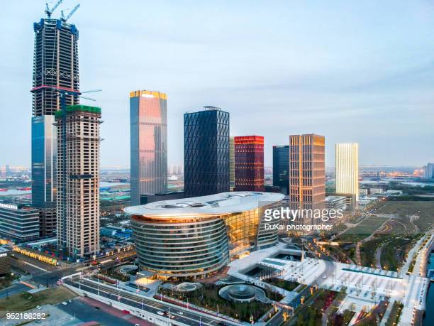 tianjin binhai financial district construction site