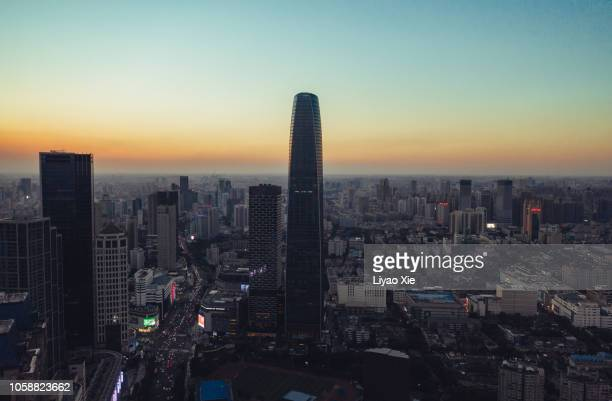 tianjin cbd cityscape - liyao xie stock pictures, royalty-free photos & images