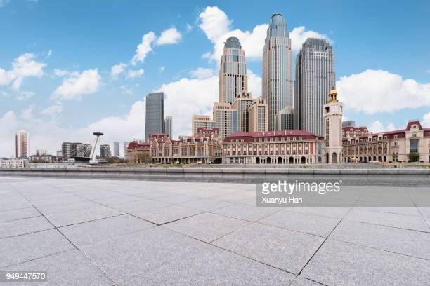 tianjin city square - tianjin stock pictures, royalty-free photos & images